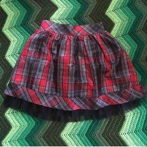Dresses & Skirts - Sparkly plaid taffeta tulle mini skirt EUC red